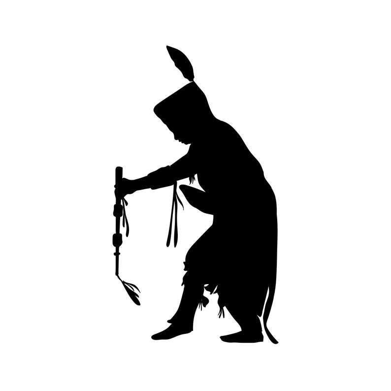 Native American dancer pow wow svg, pow wow clipart, indian clipart, cricut  cut file, dancer silhouette, native dancer png, dxf, eps.