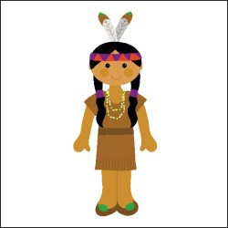 Native American Girl Clipart.