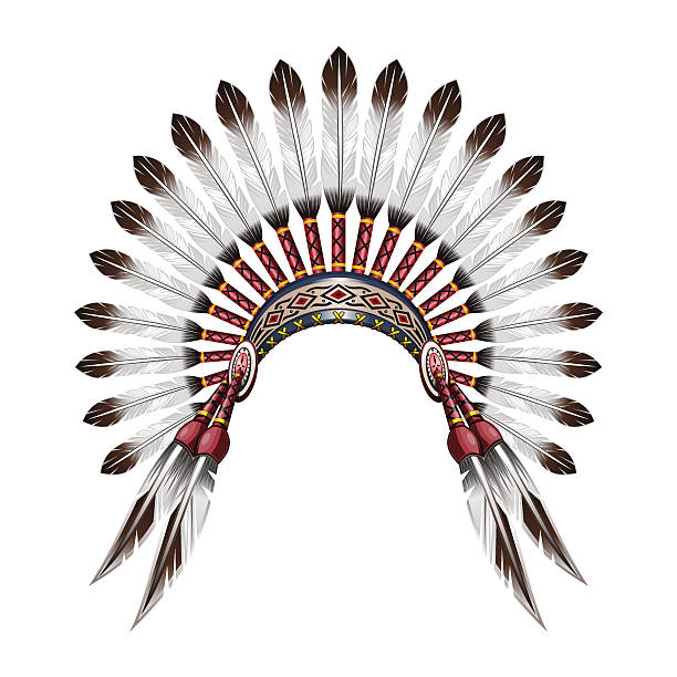 4144 Native American free clipart.
