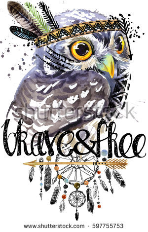 Native American Indian Symbol Clipart In Color Owl