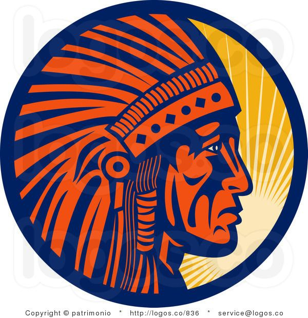 Royalty Free Logo of a Chief ProfileChief Profile Logo in.