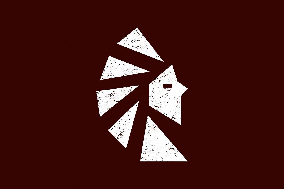 Native American Statue Logo.