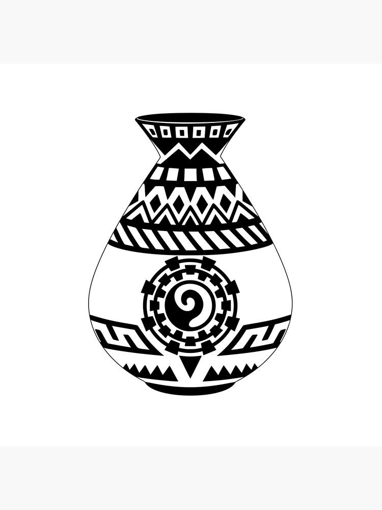 Southwestern Native American Pottery, Modern Minimalist Design.