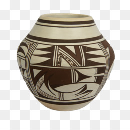 Native American Pottery PNG.