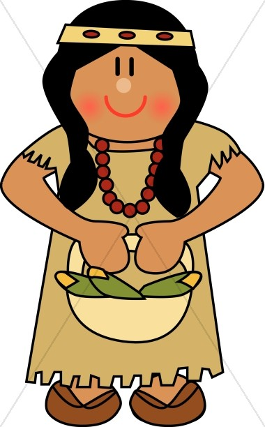 Cute Native American Woman.