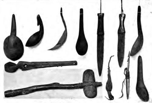 The Indigenous Indian Tribes Crafted Handmade Native American Tools.