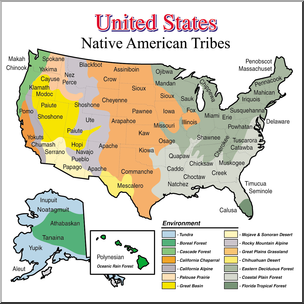 Clip Art: United States History: Native American Tribes.