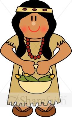 Native American Women Clipart.