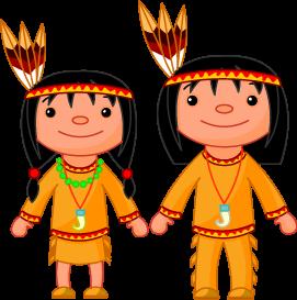 Native American Kid Clipart.