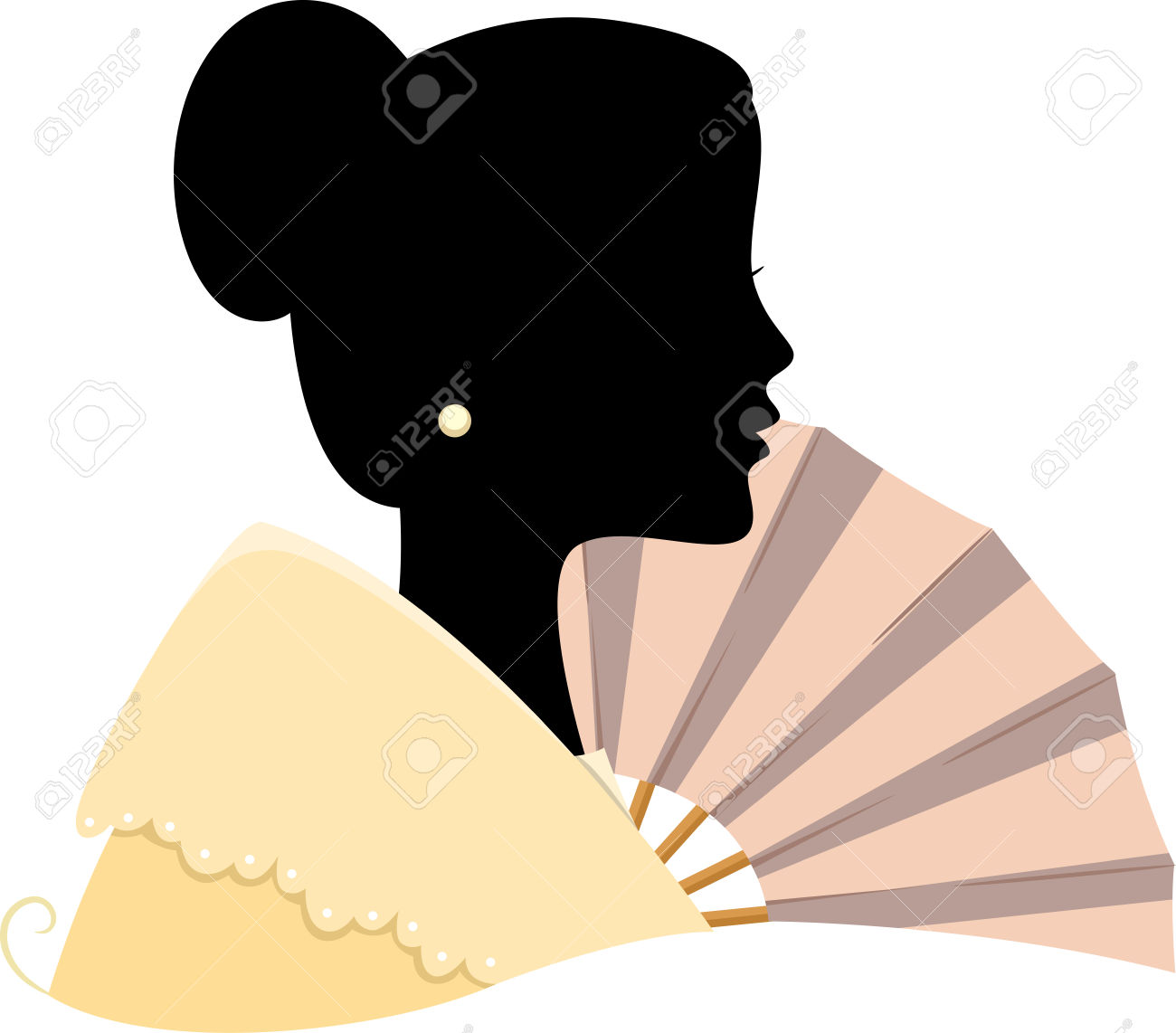 Illustration Featuring The Silhouette Of A Filipino Woman Royalty.