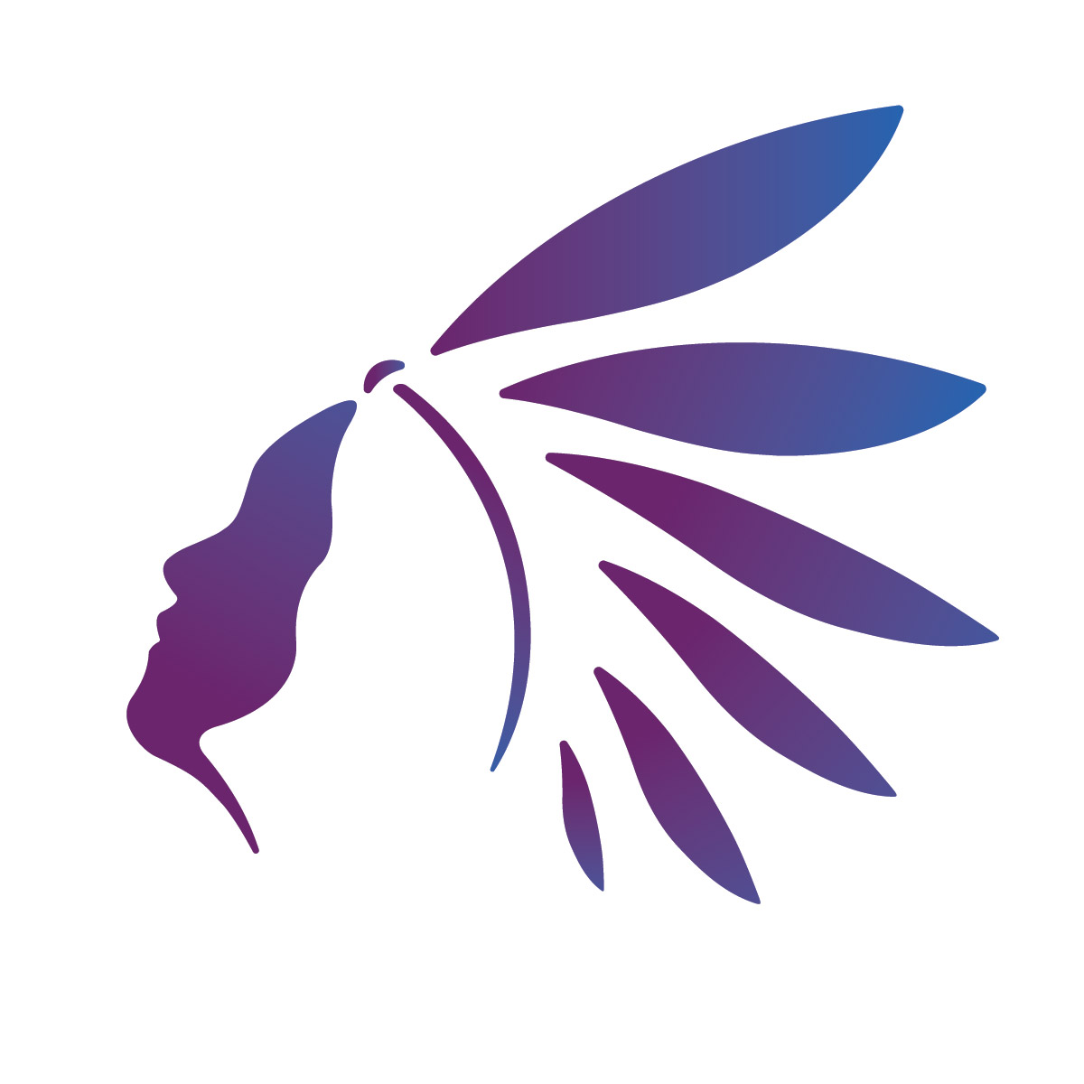 Native american logo for a membership program called \