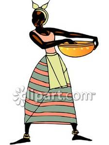 Clipart of native african woman.