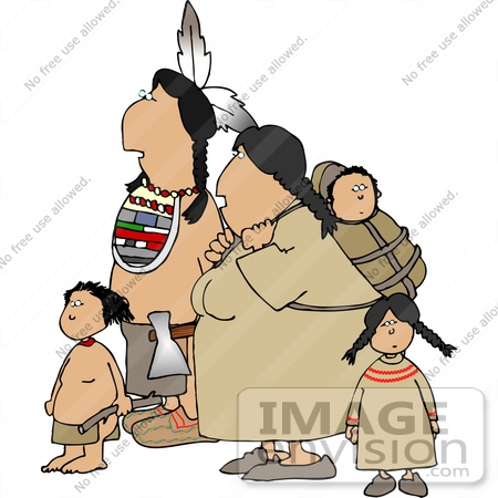 Native American Family Clipart.