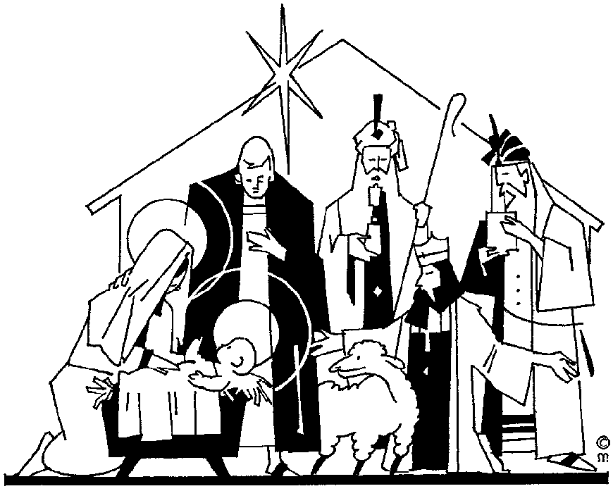 Nativity black and white christian christmas black and white.