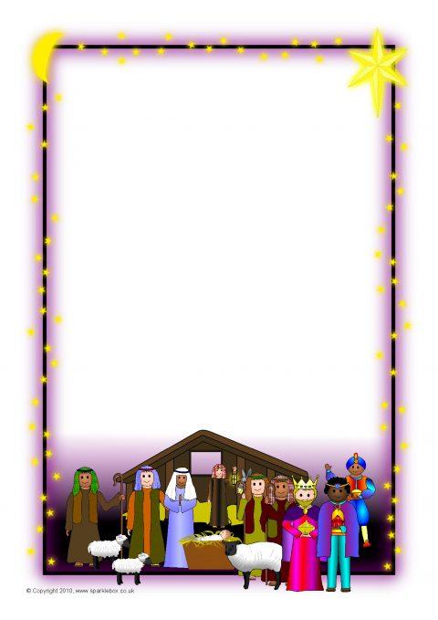 Nativity Border Clipart.