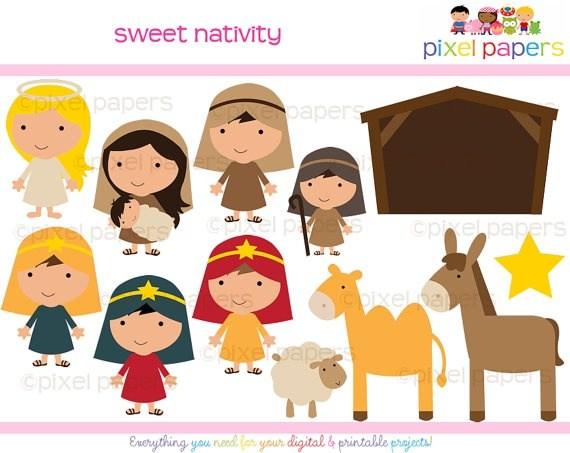 Nativity scene characters clipart 5 » Clipart Portal.