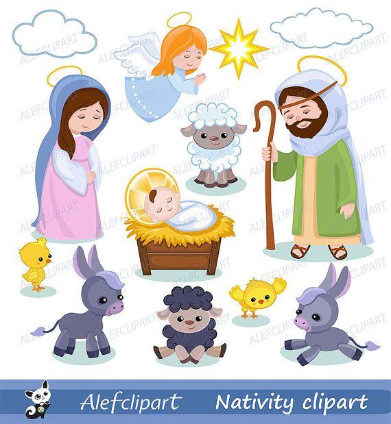 Nativity clipart Christmas clipart.