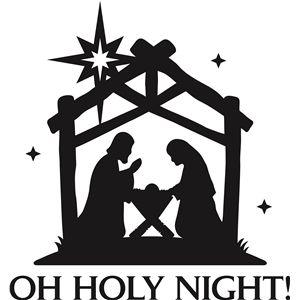 oh holy night' christmas vinyl phrase.