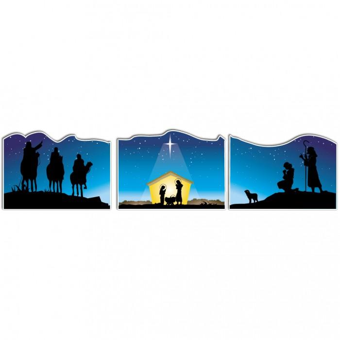 3997 Nativity free clipart.