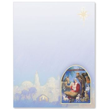 Christmas Nativity Border Papers.