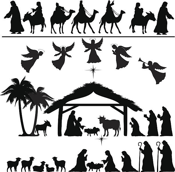 Nativity Clipart Silhouette & Free Clip Art Images #20679.