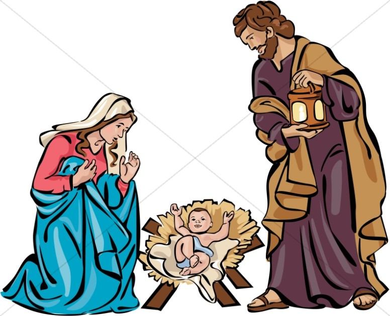 Holy Family Nativity in Color.
