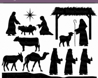 Nativity silhouette.