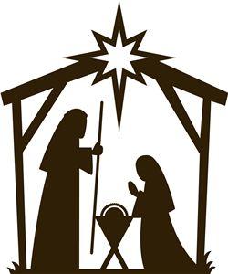 nativity clipart silhouette fancy #3