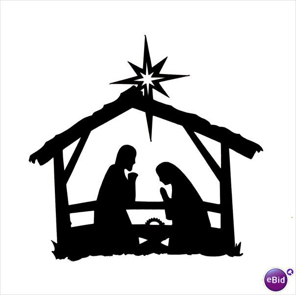 Nativity Clipart Silhouette Fancy Clipground