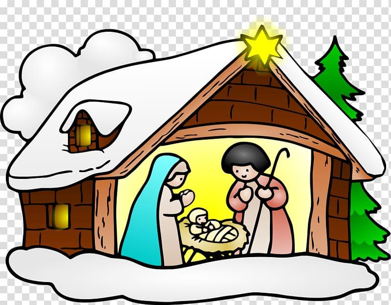 Christianity Christmas Nativity scene , crib transparent.