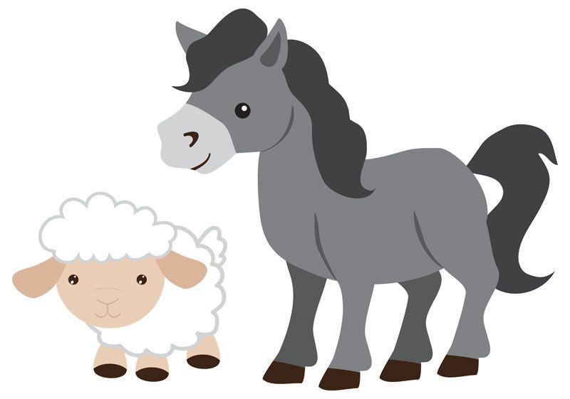 Children\'s Nativity Donkey and Sheep.