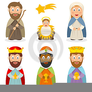 Clipart Nativity Characters.