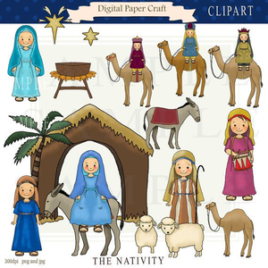 Clipart Of Nativity Figures.