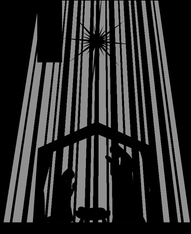Free Clipart: Nativity Silhouette.