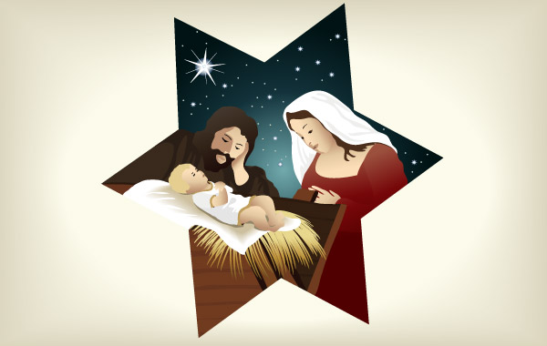 Christmas Nativity Scene 4 Clipart Graphic.