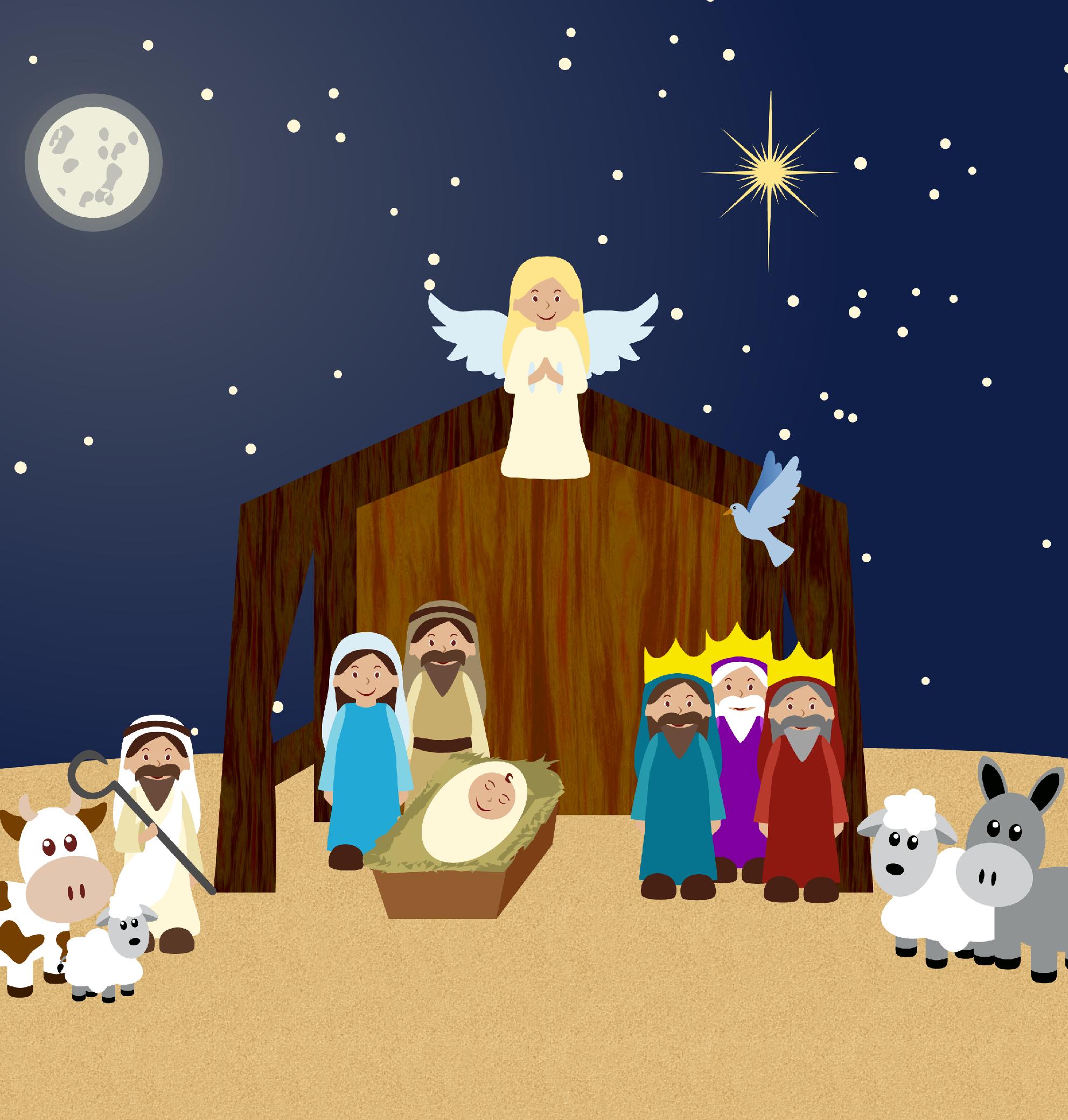 Nativity Clipart, nativity clip art, nativity scene clipart.
