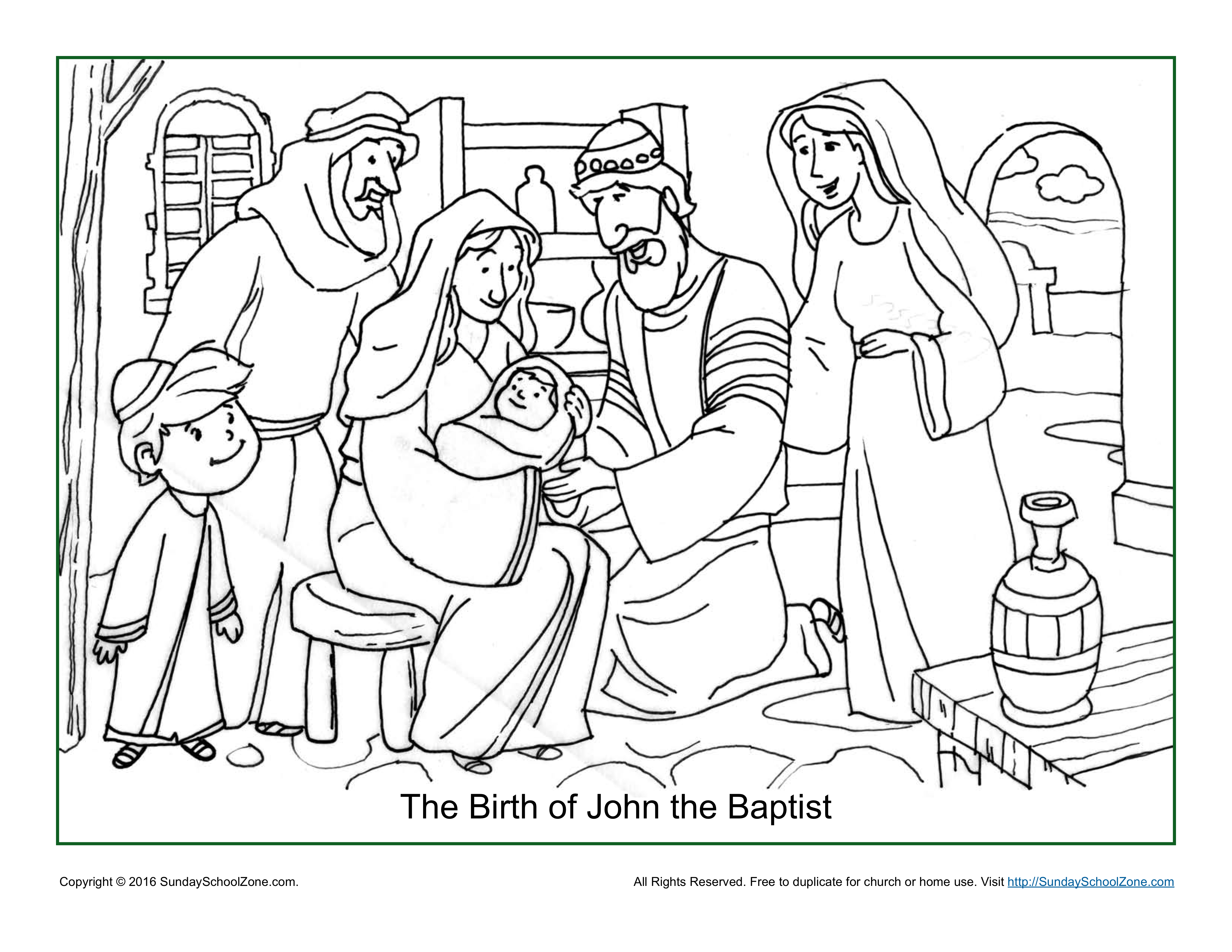 John The Baptist Coloring Pages Printable.