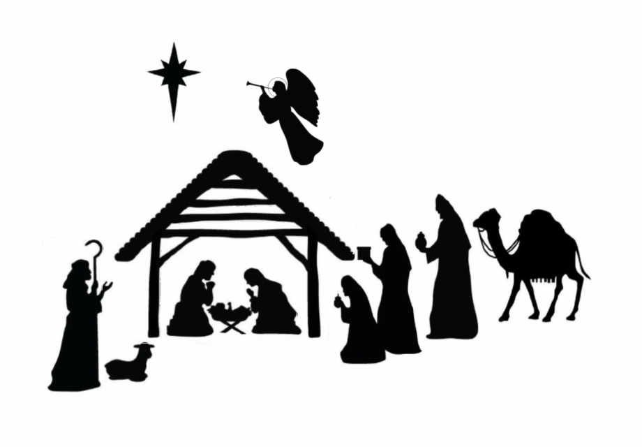 Nativity Silhouette Png Jpg Download.