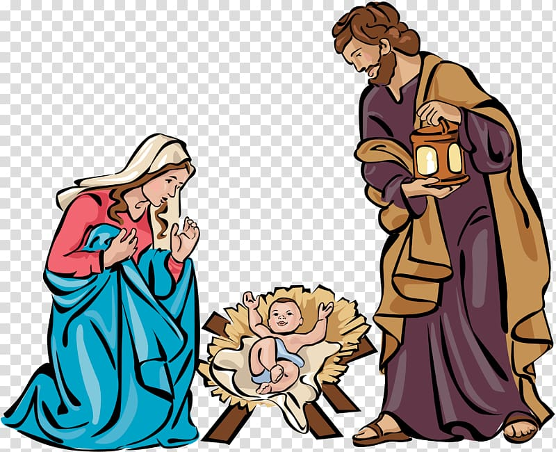Holy Family Nativity scene Christmas Nativity of Jesus.