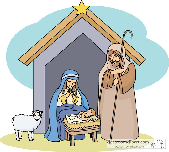 Christmas Nativity Scene Clipart.