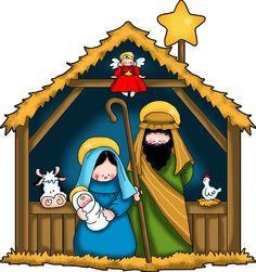 Nativity Scene Clip Art Free.