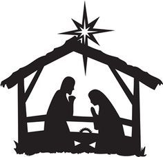 Nativity Clipart Black And White.