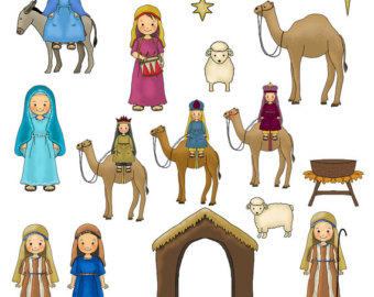 Nativity Scene Figures Clipart Clipground