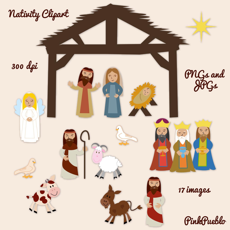 Nativity Figures Clipart.