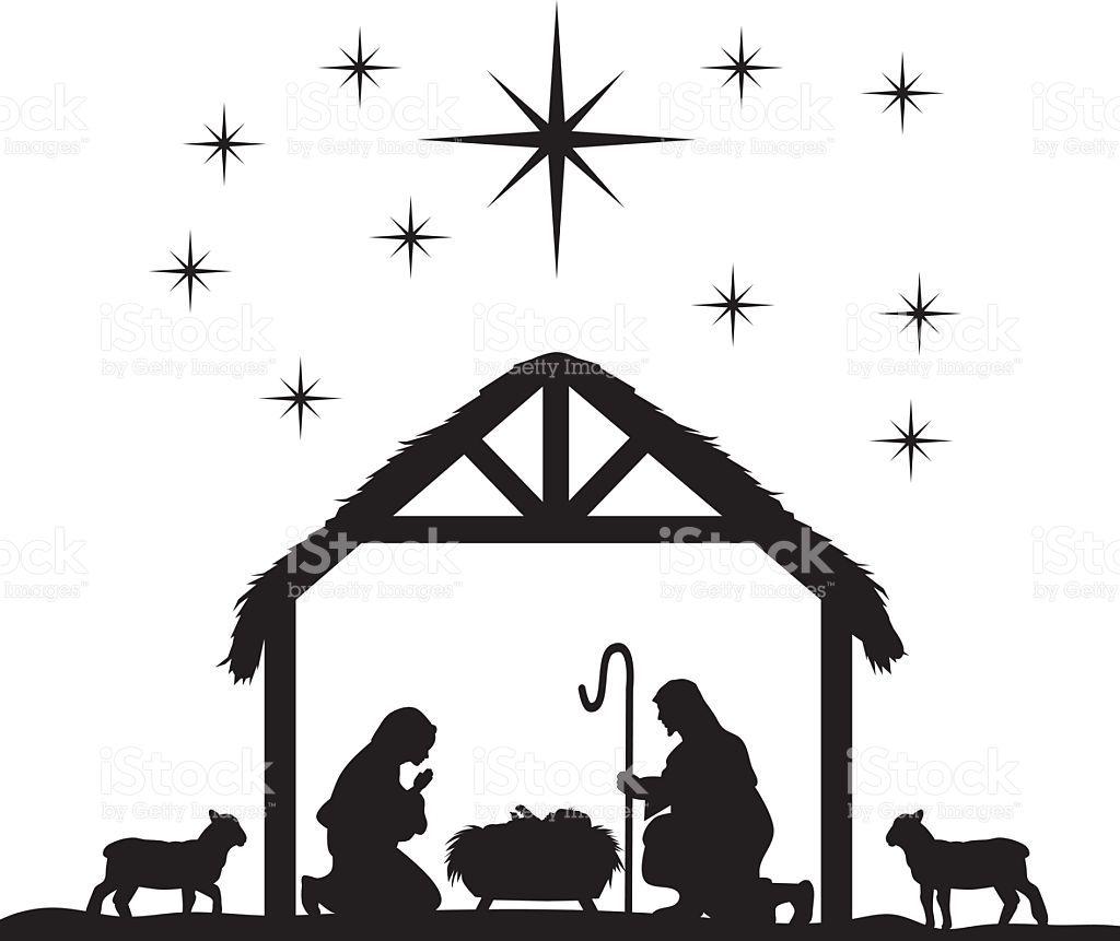 Traditional Christian Christmas Nativity Scene of baby Jesus.