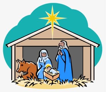 Free Nativity Scene Clip Art with No Background.
