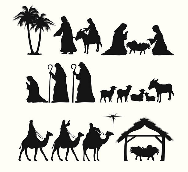 Best Nativity Silhouette Illustrations, Royalty.