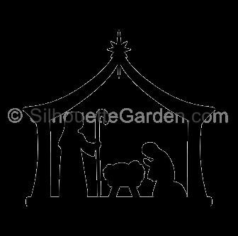 Nativity Silhouette.