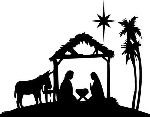 Nativity Clipart Silhouette.