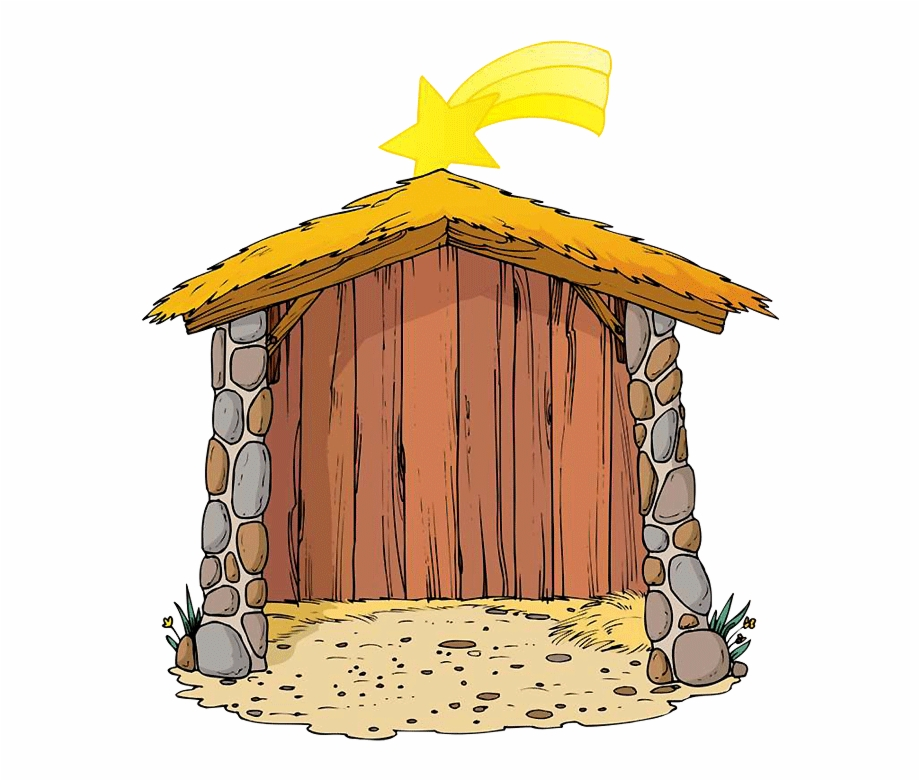 Hut Clipart Nativity.